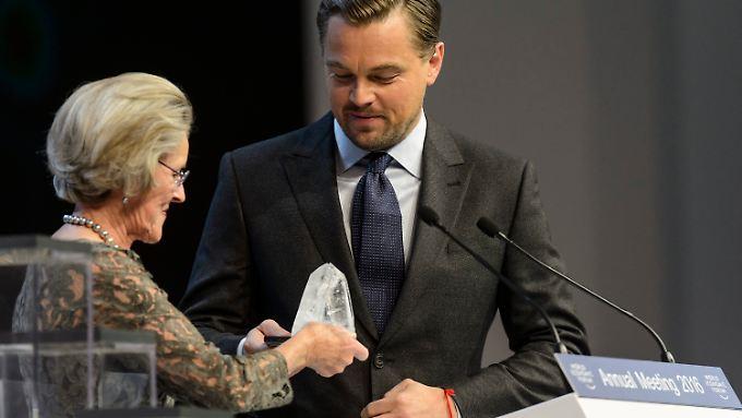 """""""Crystal Award"""" für Umwelteinsatz: Weltwirtschaftsforum ehrt Leonardo DiCaprio"""
