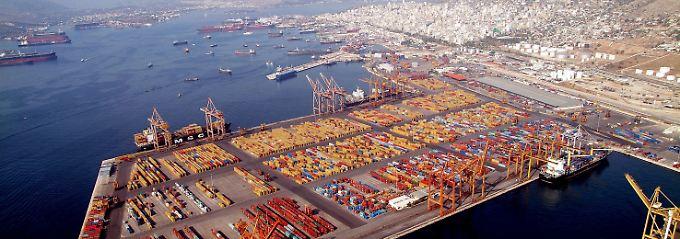 Der Hafen von Piräus.