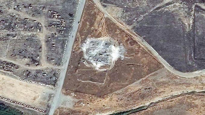 Satellitenbilder zeigen: Das Sankt-Elias-Kloster im Irak ist verschwunden.