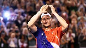 Die große Karriere von Australiens Tennislegende Lleyton Hewitt endete in Melbourne.