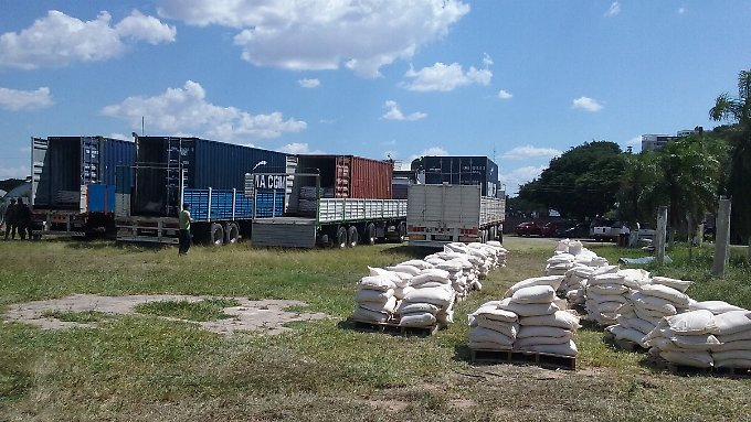 Kokain, soweit das Auge reicht: In diesen Lastern waren die Säcke versteckt.