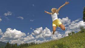 Natur und frische Luft machen glücklich, aber nicht dick.