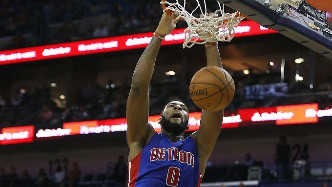 Obwohl er 23 Freiwürfe vergab, kam Andre Drummond am Ende auf 17 Punkte für die Detroit Pistons.