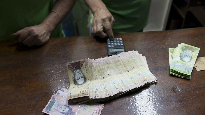 Die venezolanische Währung verliert kräftig an Wert.