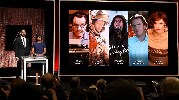 """Auch in der Kategorie """"Bester Hauptdarsteller"""" sind nur weiße Nominierte vertreten."""
