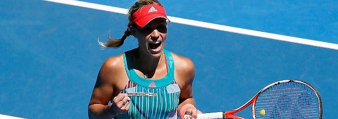 Angelique Kerber hat es ins Viertelfinale in Melbourne geschafft.