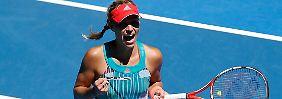 Deutsches Duell in Melbourne: Kerber steht erstmals im Viertelfinale