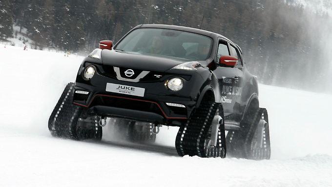 Mit bis zu 85 km/h wühlt sich der Nissan Nismo RSnow über die Piste.