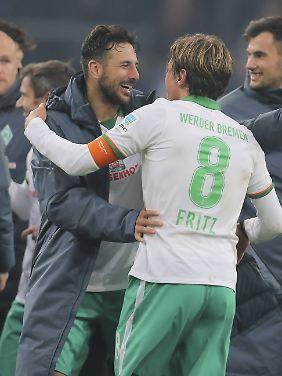 Altemeister unter sich: Clemens Fritz und Claudio Pizarro.