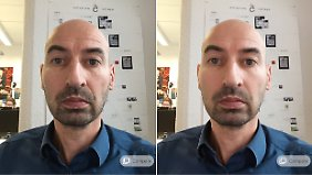 Das Gesicht wurde sauber gebügelt, der Bart ist nach der Auto-Verbesserung aber etwas zu soft, oder?