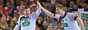 Auch Topstars drücken beide Daumen: Handballer siegen sich in aller Munde