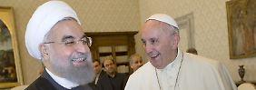 Das Treffen zwischen Irans Präsident Hassan Ruhani und Papst Franziskus ist der Höhepunkt von Teherans Werbereise.