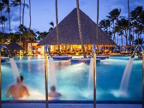 Ferienanlage in Punta Cana. Dieser Ort ist bei den Touristen besonders beliebt.