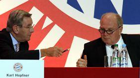 Bayern-Präsident Hopfner würde seinen Stuhl für Uli Hoeneß nach dessen Rückkehr aus dem Gefängnis räumen.