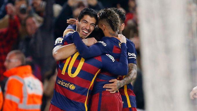 Luis Suarez sorgte nach der Pause für den Ausgleich.