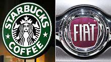Unter anderen Starbucks und Fiat sollen mithilfe von Steuertricks hunderte Millionen Euro eingespart haben.