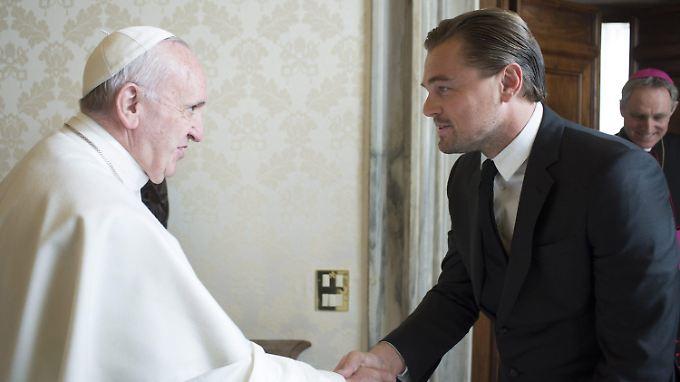 Der Klimawandel war vermutlich ihr Top-Thema: Papst Franziskus und Leonardo DiCaprio.