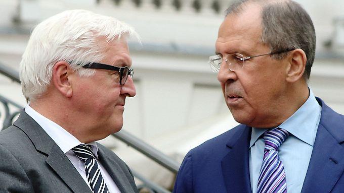Außenminister Steinmeier und Lawrow haben einiges zu bereden.