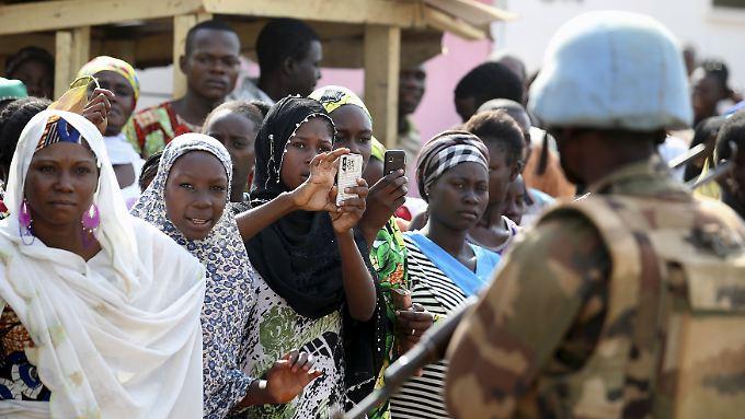 UN-Soldat in Bangui, der Haupstadt der Zentralafrikanischen Republik.