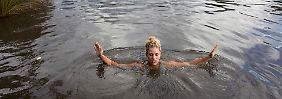Verrückte Idee nach Grand-Slam-Sieg: Kerber badet in Ruhm und Flusswasser