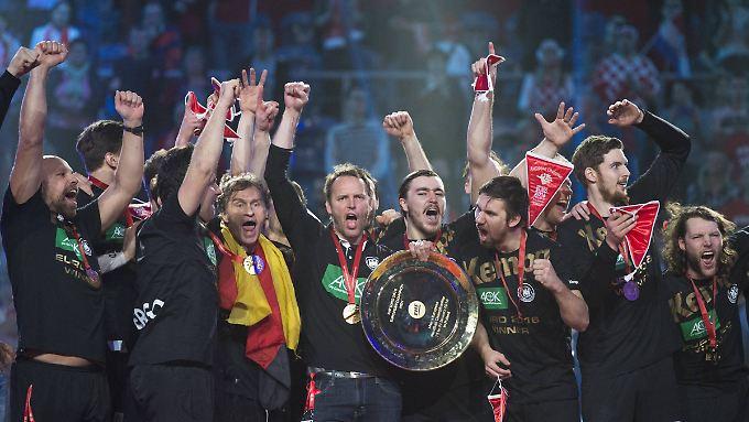 So sehen Handball-Europameister aus.