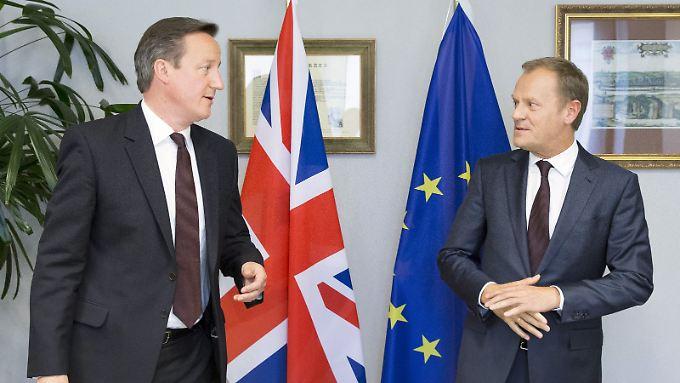Drücken die Europäische Union in eine neue Richtung: David Cameron (l.) und Donald Tusk (Archivbild).