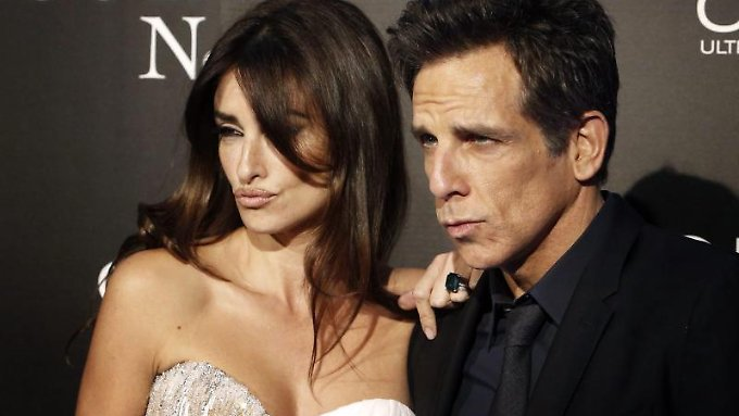 Posieren in Perfektion: Penélope Cruz und Ben Stiller bei der Premiere in Madrid.