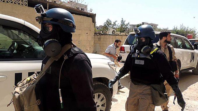 UN-Inspektoren hatten bereits 2013 den Einsatz von Chemiewaffen in Syrien bestätgit - damals allerdings noch vonseiten des Assad-Regimes.