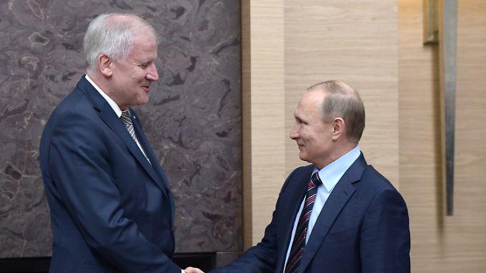 Lockerung der Sanktionen gefordert: Putin und Seehofer teilen die selben Sorgen