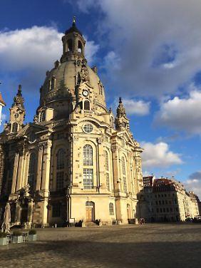 Die Dresdner Frauenkirche wurde 2005 fertiggestellt - zum zweiten Mal.