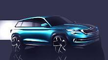 Platzvorteil im Vision S: Skoda zeigt Studie eines Mittelklasse-SUV