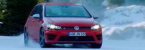 Video: Alter und neuer VW Golf duellieren sich auf demEis