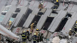 17-stöckiges Hochhaus kippt um: Schweres Erdbeben in Taiwan fordert mehrere Tote