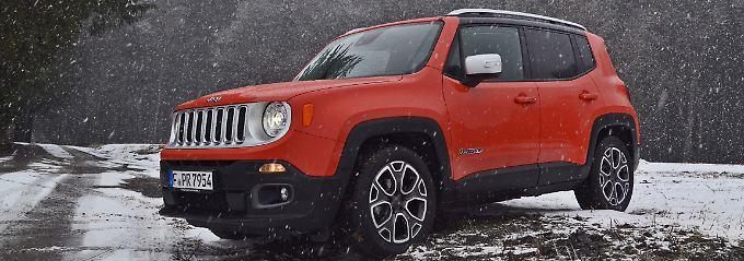 Auf widrigen Faden sollte man mit einem Frontgetriebenen Jeep Renegade vorsichtig sein.