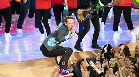 Der Auftritt von Coldplay.