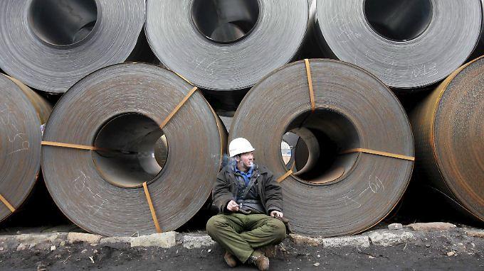 Die deutsche Stahlindustrie leidet ihrem Branchenverband zufolge stark unter billigen chinesischen Stahlimporten.