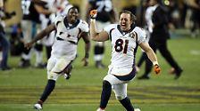 ... den Triumph der Broncos an.