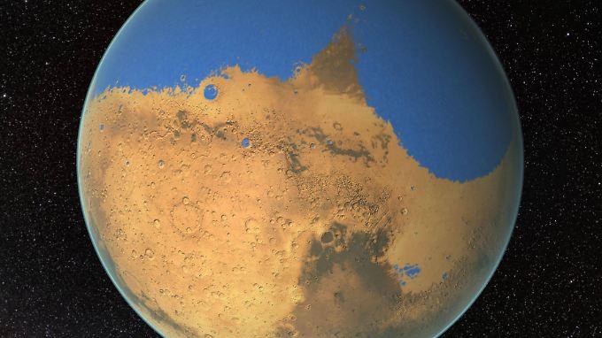 Einst soll es einen Ozean auf dem Mars gegeben haben, der größer war als der Atlantik. Doch das ist fast vier Milliarden Jahre her.