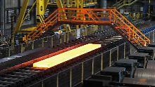 Stahlproduktion bei ArcelorMittal im polnischen Krakau.