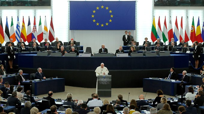"""Große Rede vor dem EU-Parlament in Straßburg: """"Europa wird imstande sein, die mit der Einwanderung verbundenen Problemkreise zu bewältigen."""""""