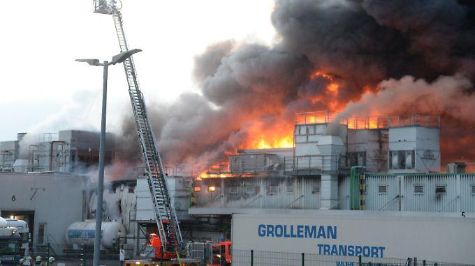 Großbrand bei Westfleisch in Paderborn.