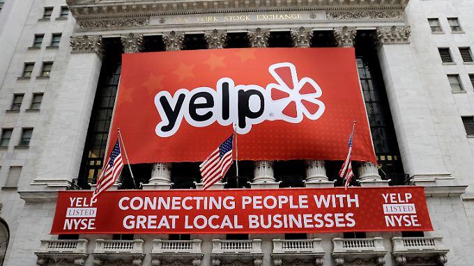 Bei Yelp können Nutzer Hotels, Restaurants und andere Geschäfte bewerten.