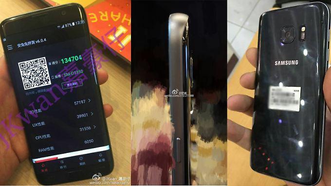 Auf diesen Bildern sind offensichtlich Prototypen des Samsung Galaxy S7 und des S7 Edge zu sehen.