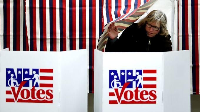 Die Stimmangabe kann beginnen: Blick ins Wahllokal in Hancock, New Hampshire.