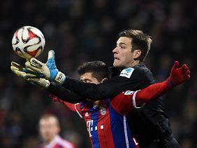 Bayern-Sturmstar Robert Lewandowski dürfte von der VfL-Abwehr intensiv bearbeitet werden.