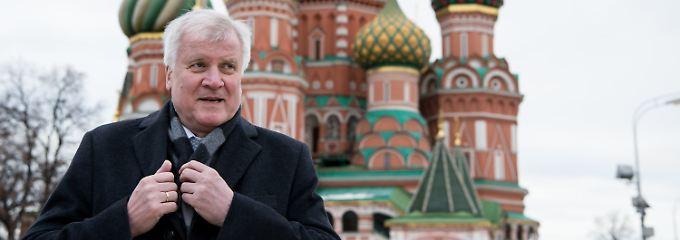 Horst Seehofer besuchte zuletzt Wladimir Putin in Moskau.
