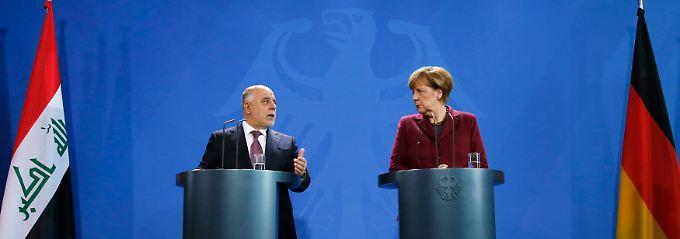 Iraks Ministerpräsident Haidar al-Abadi traf Bundeskanzlerin Angela Merkel in Berlin.