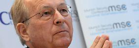 Vor der Sicherheitskonferenz: Ischinger regt Friedenstruppen für Syrien an