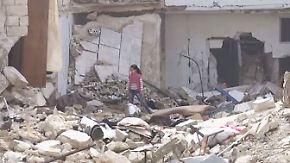 Seltene Bilder aus syrischen Rebellengebieten: Kinder spielen zwischen Trümmern und Blut
