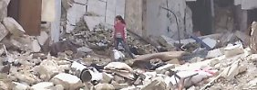 Bilder aus syrischen Rebellengebieten: Kinder spielen zwischen Trümmern und Blut